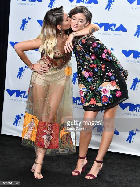 Paris Jackson Caroline D'Amore poses at the 2017 MTV Video Music Awards at The Forum on August 27 2017 in Inglewood California