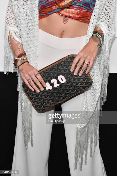 Paris Jackson clutch detail attends the NYFW Kickoff Party A Celebration Of Personal Style hosted by E ELLE IMG and sponsored by TRESEMME on...