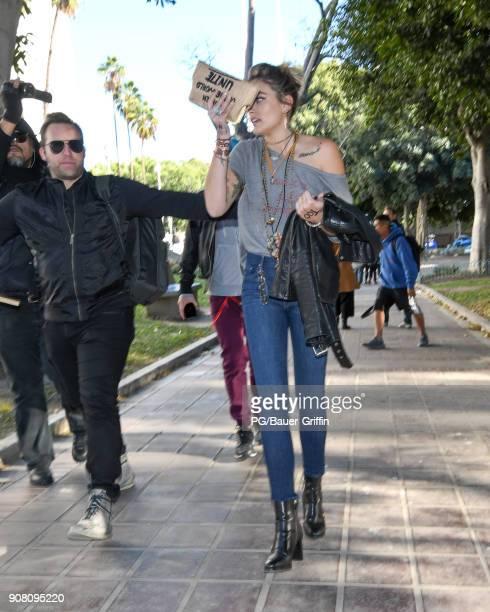 Paris Jackson is seen on January 20 2018 in Los Angeles California