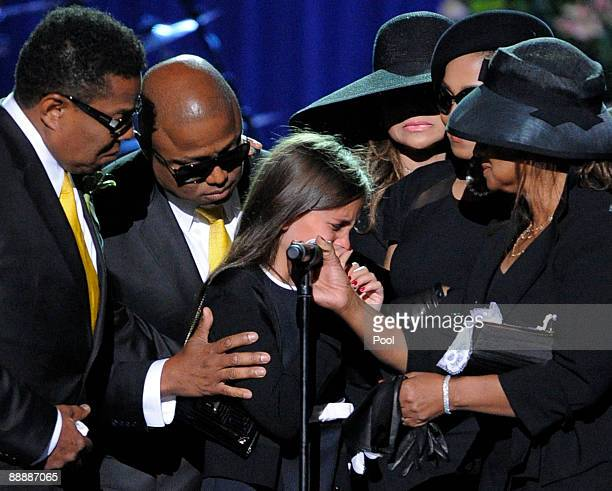 Paris Jackson is supported by her family, including Tito Jackson, Randy Jackson, La Toya Jackson and Janet Jackson after speaking about her father...