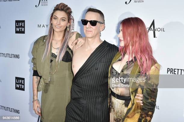 Paris Jackson, Jeremy Scott and Frances Bean Cobain attend The Daily Front Row's 4th Annual Fashion Los Angeles Awards - Arrivals at The Beverly...