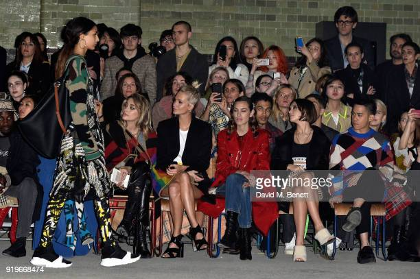 Paris Jackson Poppy Delevingne Alexa Chungg Iris Law and Mason Lee wearing Burberry at the Burberry February 2018 show during London Fashion Week at...