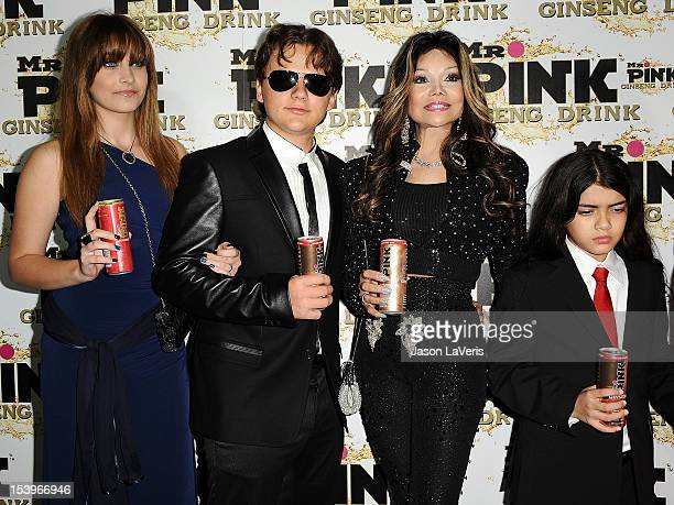Paris Jackson Prince Michael Jackson La Toya Jackson and Blanket Jackson attend the Mr Pink Ginseng Drink launch party at Regent Beverly Wilshire...