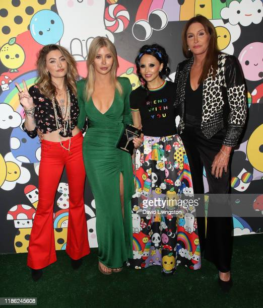 Paris Jackson Sophia Hutchins Stacey Bendet and Caitlyn Jenner attend the alice olivia by Stacey Bendet x FriendsWithYou Collection LA launch party...