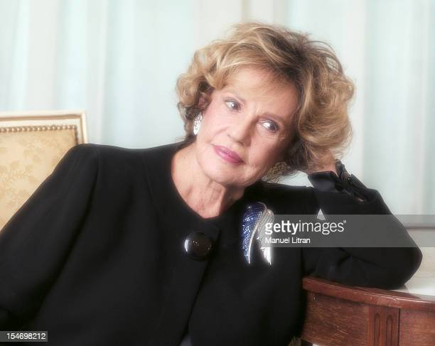 Paris January 14 the actress Jeanne Moreau was the occasion of the release of the film 'This love the' in which she plays Marguerite Duras Portrait...