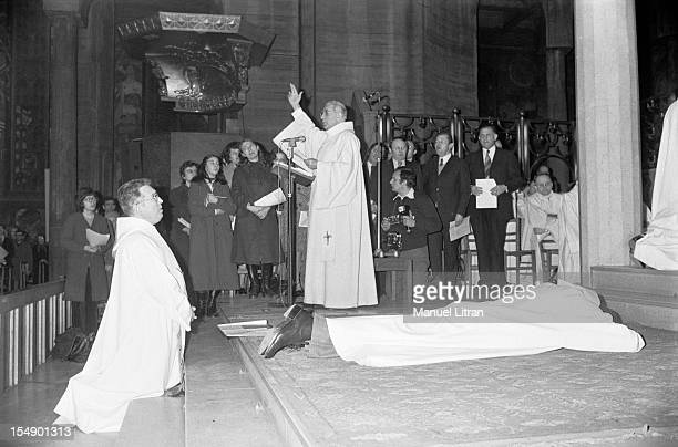 Paris January 19 Andre MAHE Guardian of Peace was ordered deacon in the church of the Holy Spirit Dausmesnil Avenue Diaconate ordination to Andre...