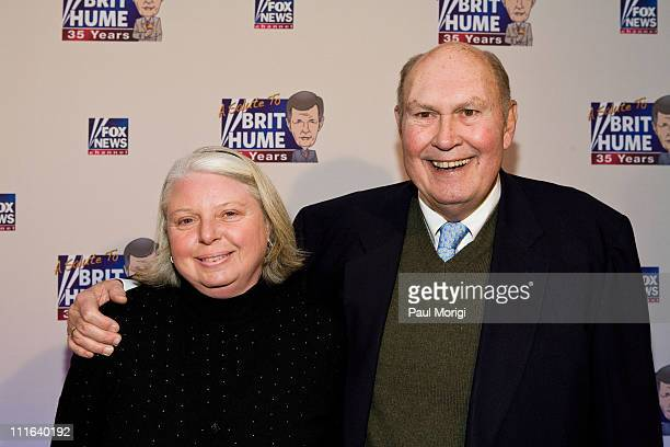Paris Keenan and Willard Scott attend salute to Brit Hume at Cafe Milano on January 8 2009 in Washington DC