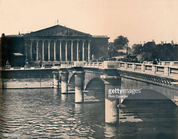 Paris La Chambre Des Députés LL circa 1910 The Palace was originally built beginning in 1722 by Louise Françoise de Bourbon Napoleon Bonaparte added...