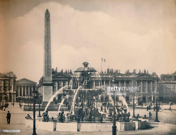 Paris La Place De La Concorde LL circa 1910 Designed by AngeJacques Gabriel in 1755 as a moatskirted octagon between the ChampsElysées to the west...