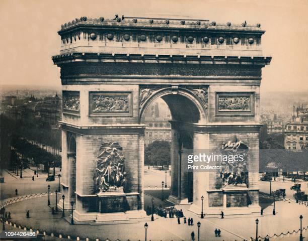 Paris L'Arc De Triomphe LL circa 1910 Designed by Jean Chalgrin in 1806 in a Neoclassical version of ancient Roman architecture From 'Paris Album...