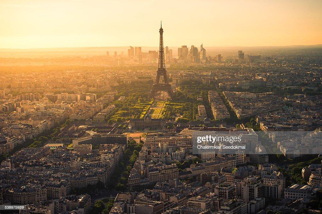 Paris Last light from Montparnasse : Stock Photo