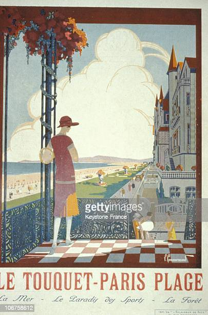 Paris, Le Touquet Plage Advertising Poster In 1926.