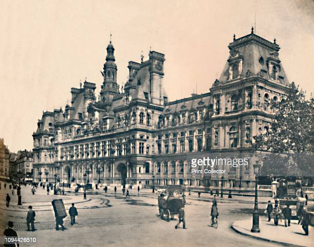 Paris L'Hôtel De Ville LL circa 1910 North wing by Henry IV and Louis XIII between 1605 and 1628 It was burned by the Paris Commune along with all...