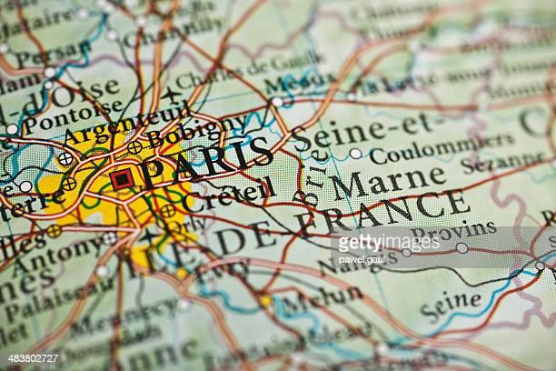 Paris map, France