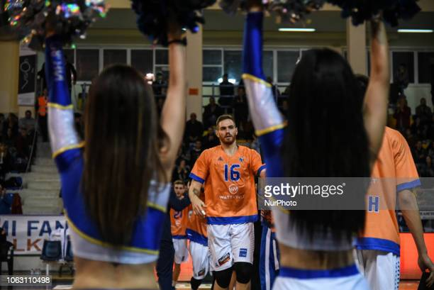 Paris Maragkos forward of Kymis BC during Griechenland Basket League match between Kymis BC and AEK Athens BC in Chalkida Greece on November 17 2018...