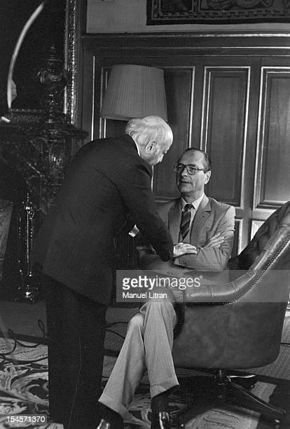 Paris, March 21 Canadian photographer Yousuf Karsh Armenian origin rule the last preparations before photographing Jacques Chirac, Mayor of Paris.