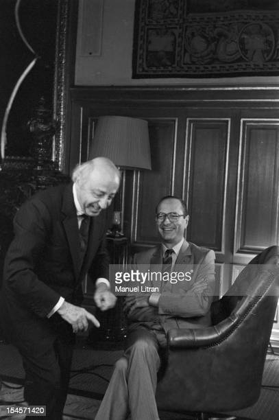 Paris, March 21 Canadian photographer Yousuf Karsh Armenian origin rule the last preparations and instructions before photographing Jacques Chirac,...