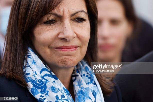 Paris Mayor and Socialist Party candidate for the 2022 French presidential elections Anne Hidalgo attends the inauguration of the Arc de Triomphe in...