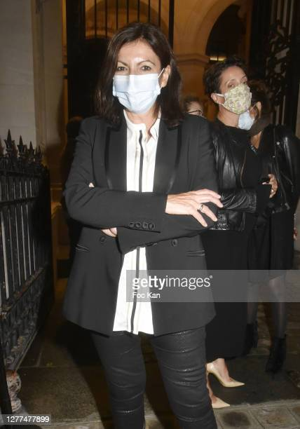 "Paris Mayor Anne Hidalgo attends the ""Gabrielle Chanel. Fashion Manifesto"" Exhibition as part of Paris Fashion Week at Palais Galliera on September..."