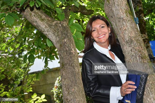 Paris Mayor Anne Hidalgo attends the Jury Photocall of the 13th Angouleme French-Speaking Film Festival on August 28, 2020 in Angouleme, France.