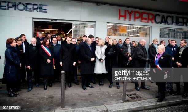 Paris mayor Anne Hidalgo French President Emmanuel Macron French Interior Minister Gerard Collomb French Government's Spokesperson Benjamin Griveaux...