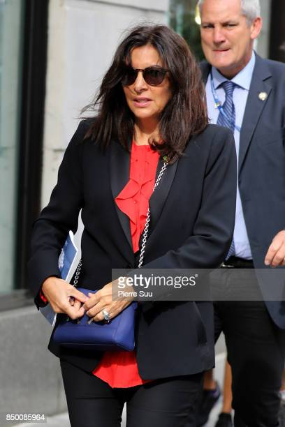 Paris Mayor Anne Hidalgo is seen strolling on 5th avenue on September 20 2017 in New York City