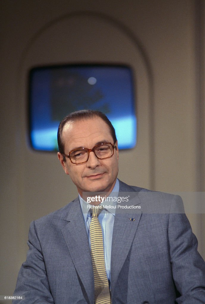 Mayor Jacques Chirac on French TV Show : Photo d'actualité