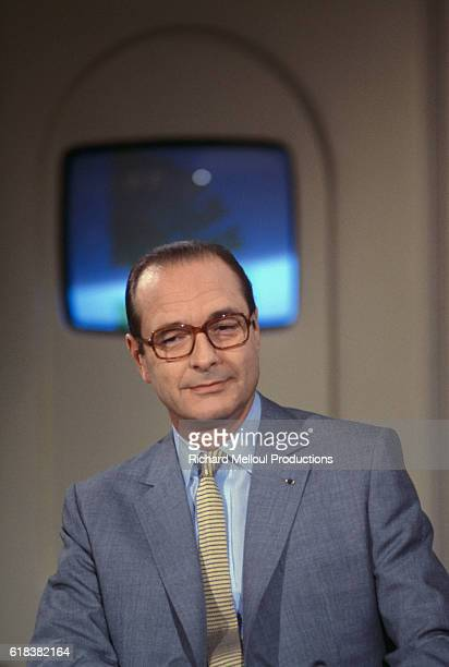 Paris mayor Jacques Chirac appears on the French television show L'Heure de Verite Chirac was mayor of Paris from 1977 until elected president of...