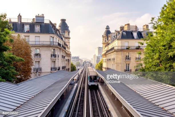 paris metro at passy station - european culture stock pictures, royalty-free photos & images