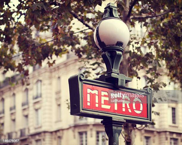 paris metro - paris metro sign stock pictures, royalty-free photos & images