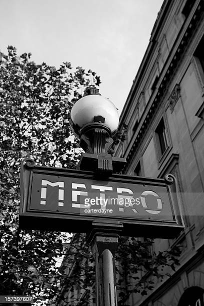 paris metro sign, france - paris metro sign stock pictures, royalty-free photos & images