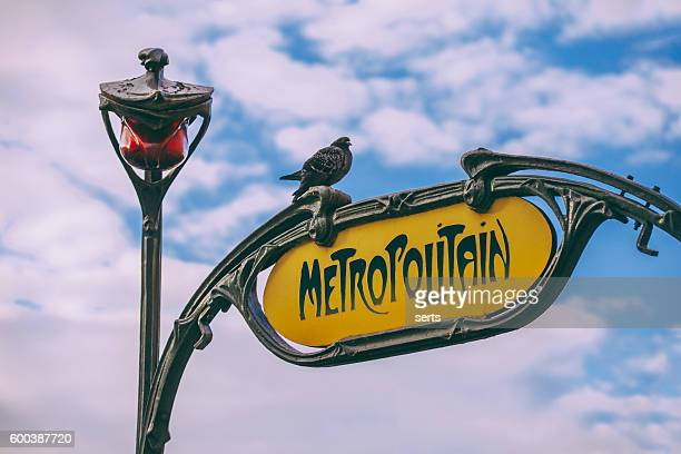 Paris Metropolitain Sign
