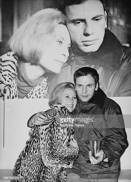 Paris Michele Morgan And Jean Louis Trintignant On 1964 February 29Th