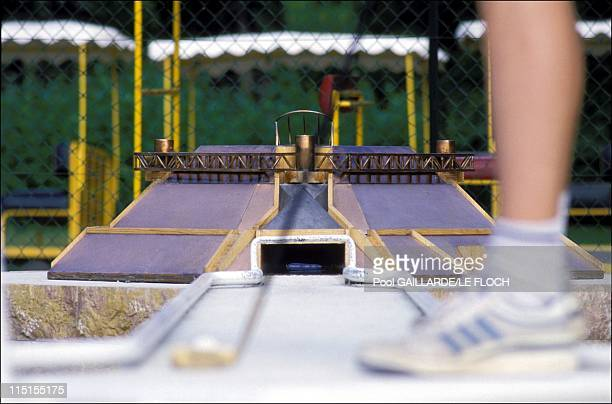 Paris monuments on a miniature golf course in France in July 1987 The Omnisport Stadium of Bercy