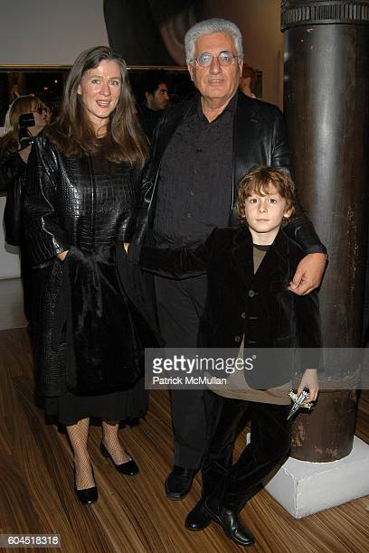 Paris Murray, Germano Celant and Argento Celant attend FONDAZIONE PRADA party for TOM SACHS at PRADA Epicenter on November 13, 2006 in New York City.
