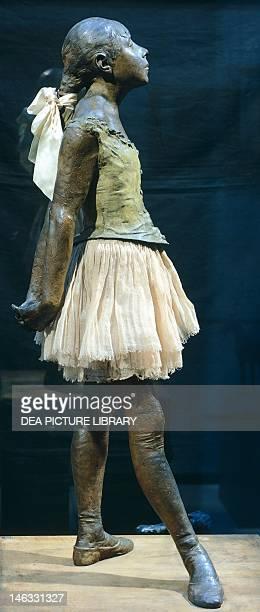 Paris Musée D'Orsay Small Dancer Aged 14 18801881 by Edgar Degas Sculpture in bronze