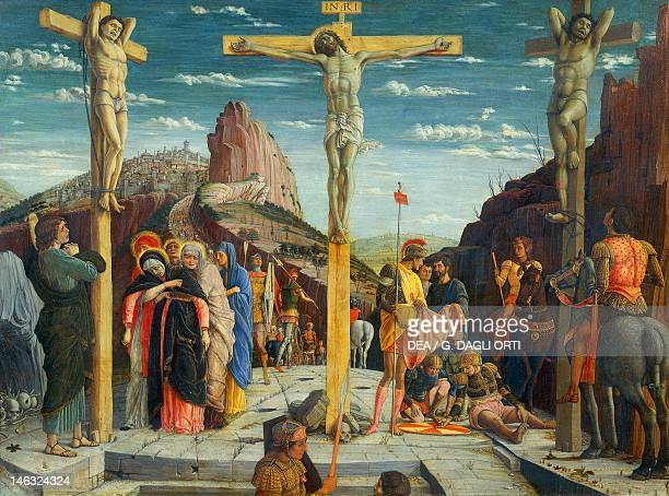 Paris Musée Du Louvre Crucifixion 14571459 by Andrea Mantegna tempera on wood 67x93 cm