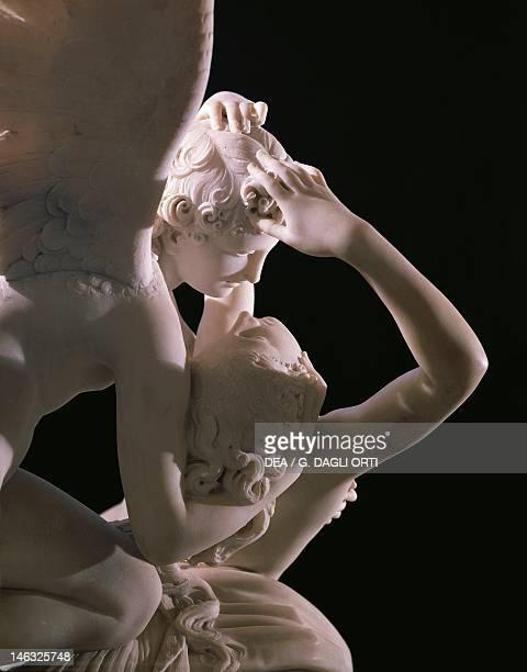 Paris Musée Du Louvre Cupid and Psyche 17871793 by Antonio Canova marble figure group 155x168 cm Detail