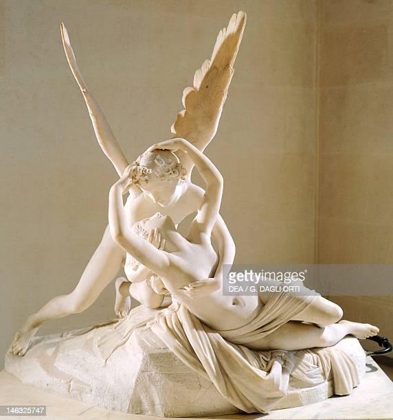 Paris, Musée Du Louvre Cupid and Psyche by Antonio Canova , marble sculpture.