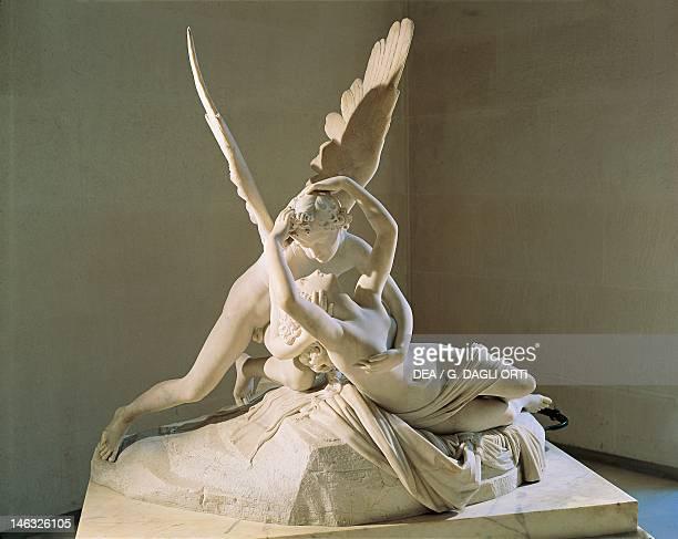 Paris Musée Du Louvre Cupid and Psyche by Antonio Canova marble sculpture