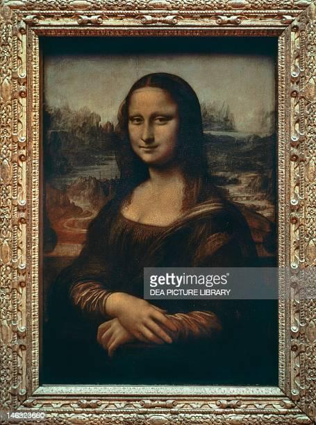 Paris Musée Du Louvre Gioconda or Mona Lisa probably a portrait of Lisa Gherardini wife of Francesco del Giocondo 15031516 by Leonardo da Vinci oil...