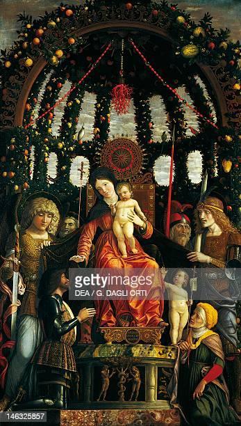 Paris Musée Du Louvre Madonna of Victory by Andrea Mantegna tempera on canvas 280x166 cm
