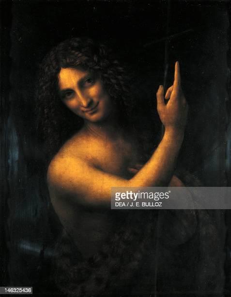 Paris Musée Du Louvre St John the Baptist 15131516 by Leonardo da Vinci oil on wood of walnut 69x57 cm