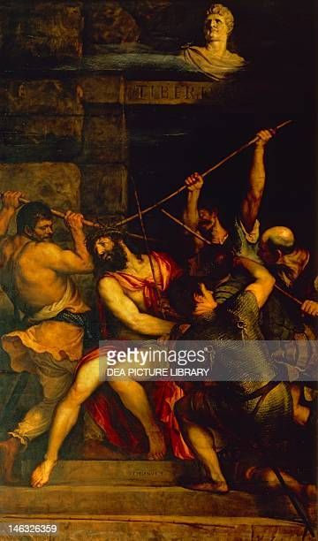 Paris Musée Du Louvre The Crowning with Thorns 15421543 by Titian oil on canvas 303x180 cm
