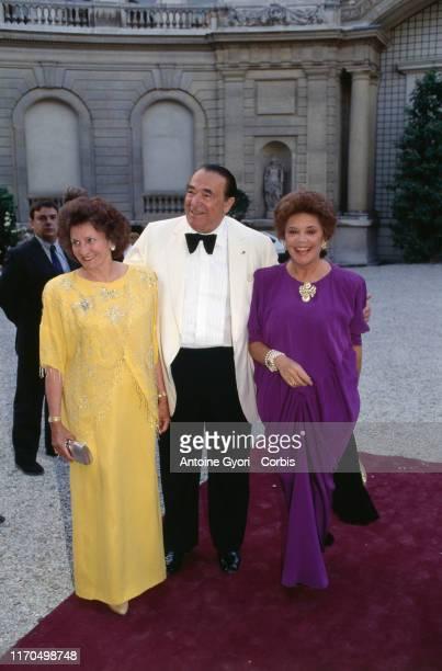 Paris Musée Jacquemart André Elisabeth Maxwell Robert Maxwell et Philippine de Rothschild invités au diner en l'honneur du roi et de la reine de Suède