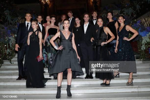 Paris National Opera dance director Aurelie Dupont with Star Dancers Hugo Marchand Leonore Baulac Germain Louvet Myriam OuldBraham Karl paquette...