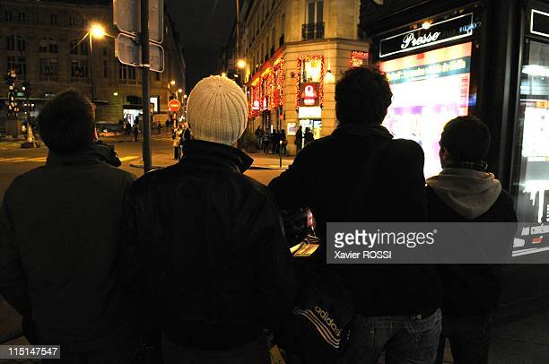 Paris Neon's gang in Paris France on January 17 2008 John Dali Lionel Bruce in action This group of friends have decided to fight against the abusive...