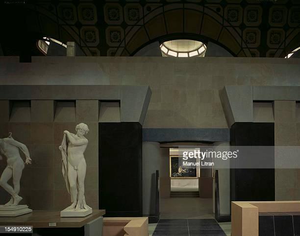 Paris November 1986 the Musee d'Orsay a few days of its inauguration on 1 December 1986 Basically illuminated by a shaft of light and enhanced by the...