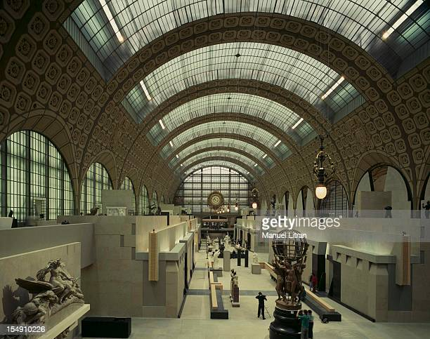 Paris November 1986 the Musee d'Orsay a few days of its inauguration on 1 December 1986 In the central aisle of the old station are exposed...