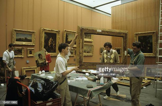 Paris November 1992 Amenagement thirtynine new galleries devoted to French painting of the eighteenth and nineteenth century around the Cour Carree...